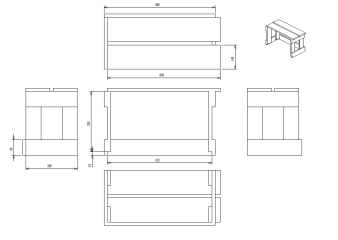 propri taire de la tablette de bureau et tag re imprimante avec 2 4 mat riau diy. Black Bedroom Furniture Sets. Home Design Ideas