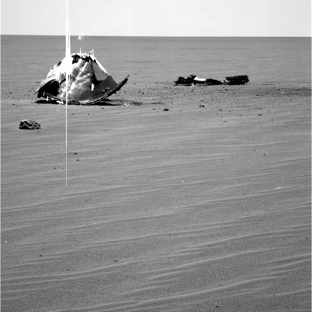 火星探査車オポチュニティが撮影した耐熱シールド
