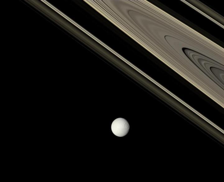 土星の衛星テチスと環土星の環は何歳ですか。確かではありませんが、少なく... 土星の衛星テチスと